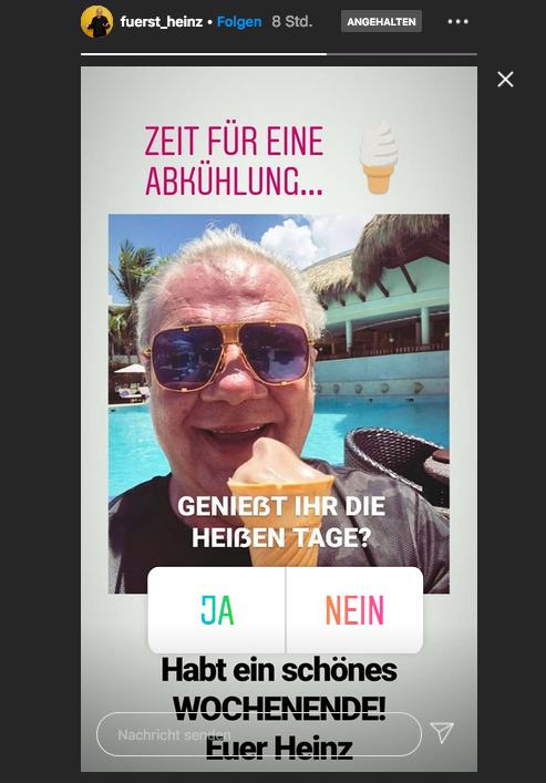 Instagram-Foto von Fürst Karl-Heinz