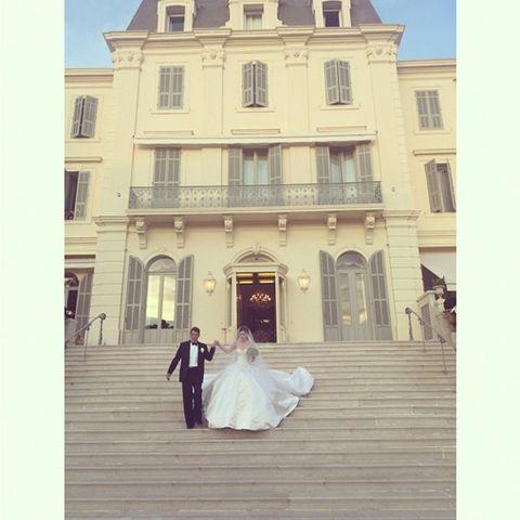 Über eine Millionen US-Dollar soll die Hochzeit in Südfrankreich gekostet haben.