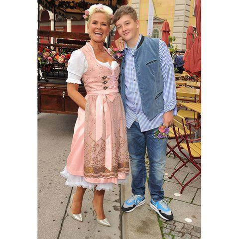 Claudia Effenberg mit Sohn Tommy Strunz