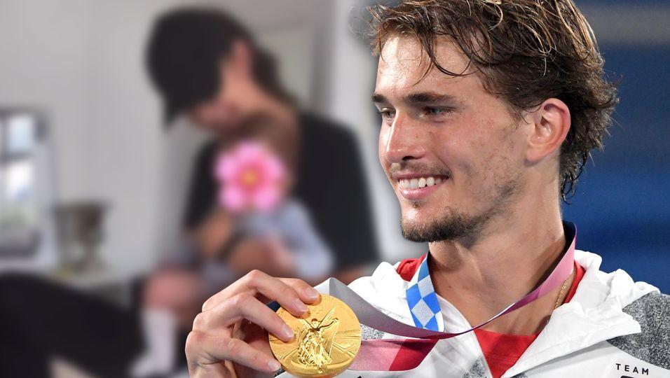 Nach seinem Gold-Sieg bei Olympia: So niedlich gratuliert seine Baby-Tochter