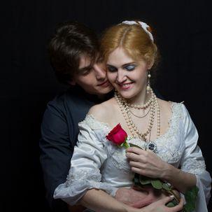Brautpaar in traditioneller Kleidung