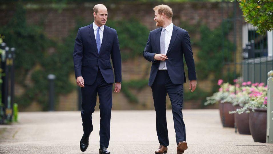 Die Brüder sind vereint - und kommen Seite an Seite zu Dianas Gedenkfeier