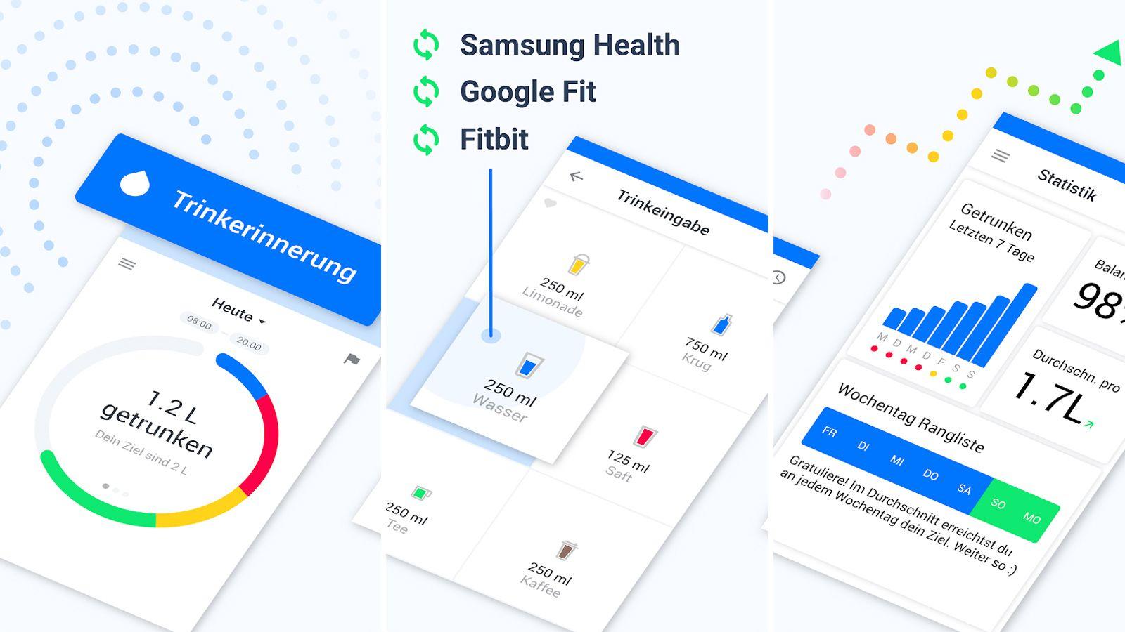 Wasserkonsum am Armband tracken: Einige Apps bieten auch Smartwatch-Unterstützung an.