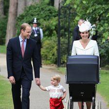 Herzogin Kate, Taufe Prinzessin Charlotte, Prinz William, George