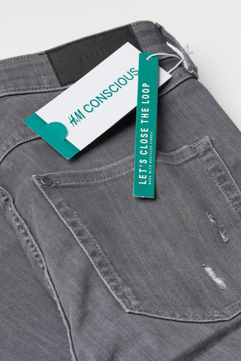 Super Skinny High Ankle Jeans von H&M