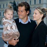 Tommy Haas mit Sara Foster und Tochter Valentina