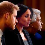 Meghan Markle, Prinz Harry & Queen Elizabeth II.
