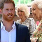 Prinz Harry, Herzogin Camilla, Queen Elizabeth II.