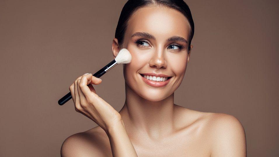 Make-up Trend Glanz der Perlen