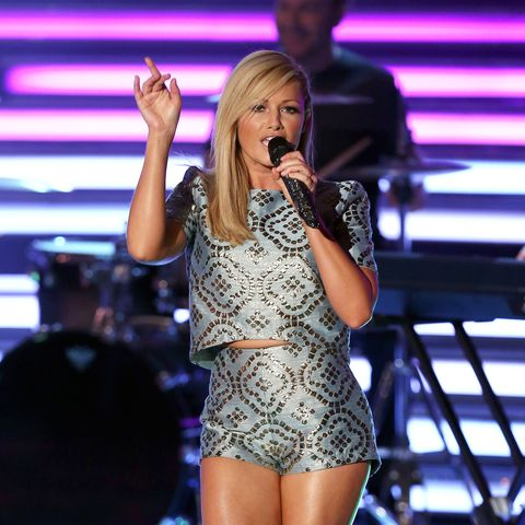 Helene Fischer performs during the 'Willkommen bei Carmen Nebel' show at GETEC Arena on June 07, 2014 in Magdeburg, Germany