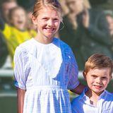 Estelle und Oscar von Schweden - Pure Euphorie im Fußballstadion: Hier rasten die royalen Minis aus