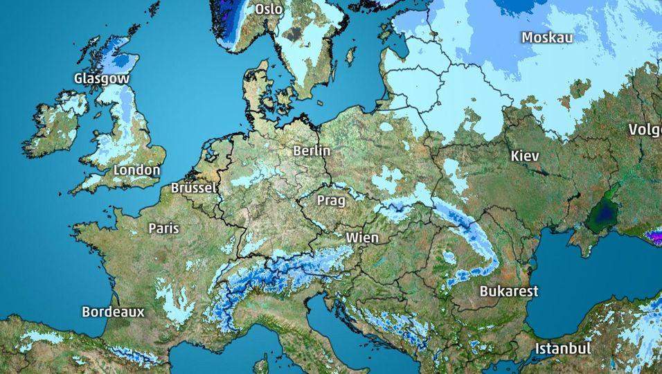 Kampf der Luftmassen über Europa – wo es noch einmal schneit