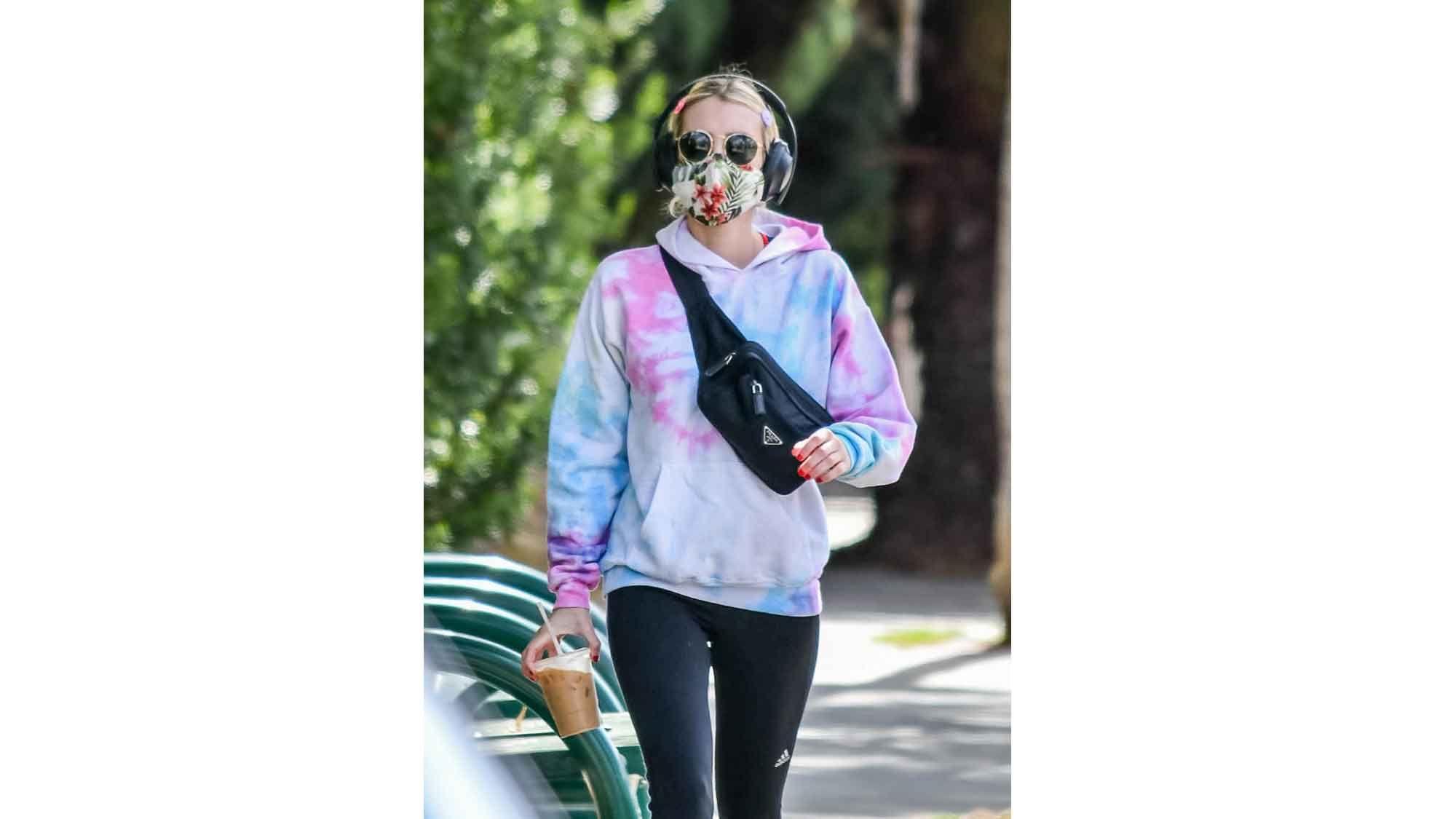 Emma Stone Batik Sweater