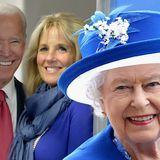 Queen Elizabeth II. und Jill & Joe Biden