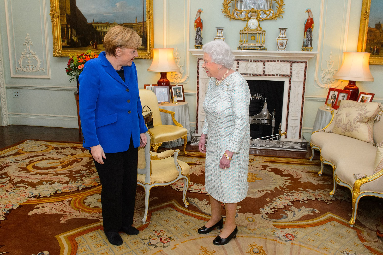 Angela Merkel und Queen Elizabeth II.