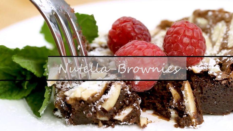 Diese Nutella Brownies sind zum Niederknien