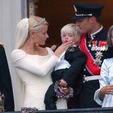 Kleiner Goldjunge! Bei ihrer Hochzeit vor 20 Jahren ist Marius der Star