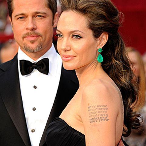 Oscar, Frisuren, Brad Pitt and Angelina Jolie