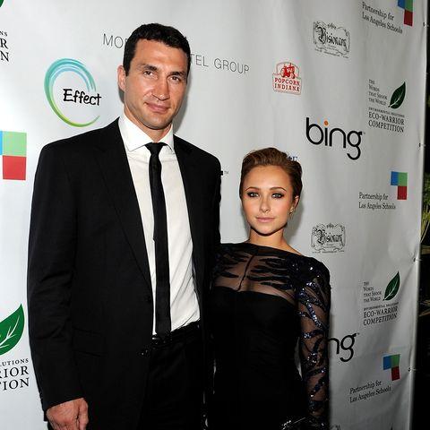 Auf die Größe kommt's eben doch nicht an: Hayden Panetierre misst 157, Wladimir Klitschko 198 cm ...
