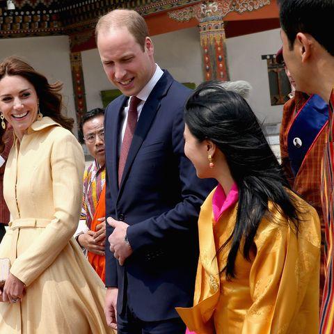 Herzogin Kate und Prinz William in Bhutan