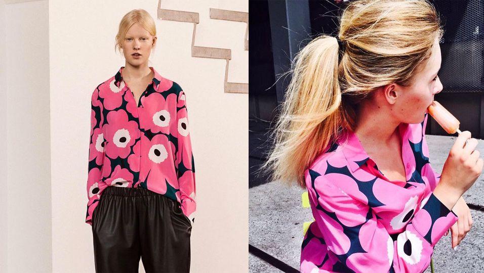 Das Label Marimekko setzt auf Maxi-Blumen und Lederhosen.