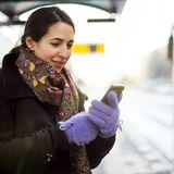 Bahn Smartphone Frau
