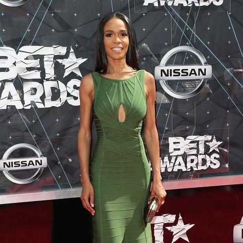 BET Awards -  Michelle Williams grünes Kleid