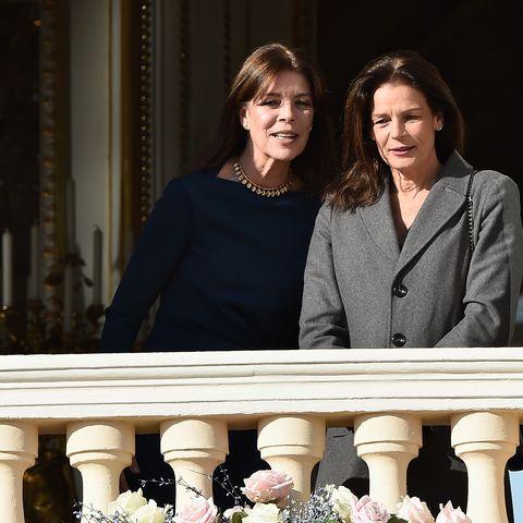 Alberts Schwestern Prinzessin Caroline und Prinzessin Stéphanie