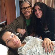 Liv Tyler mit Papa Steven und Schwester Mia