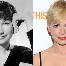 Stars wie Hollywoodlegenden, Shirley MacLaine, Michelle Williams