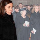 In der Trauer um Pilar vereint: Auch Infantin Cristina durfte bei den Royals sitzen