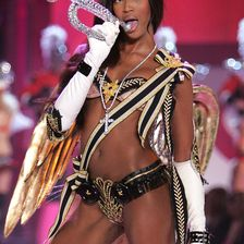 Model Naomi Campbell walks the runway at The Victoria's Secret Fashion Show at the 69th Regiment Armory November 9, 2005 in New York City