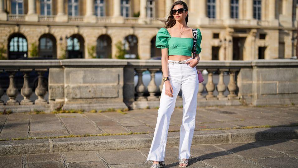 Überraschungseffekt - So machen dich weiße Jeans schlank