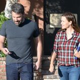 So glücklich zeigen sich Ben und Jennifer nach der Eheberatung in Los Angeles.