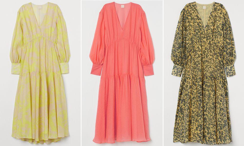 Langes Kleid aus Lyocellmix von H&M
