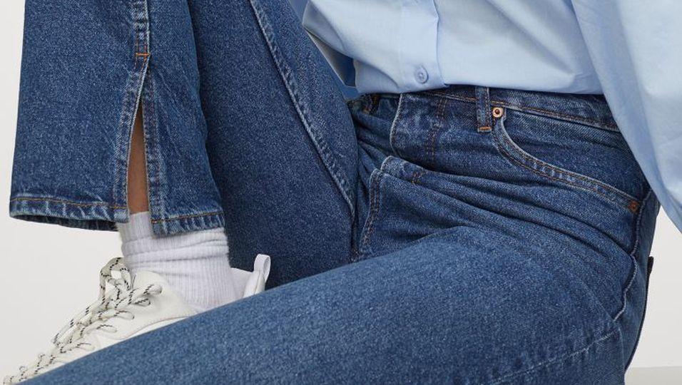 Split Hem Jeans