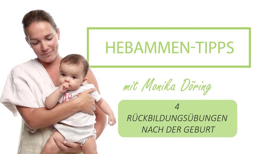 Hebammen-Tipps: 4 Rückbildungsübungen nach der Geburt