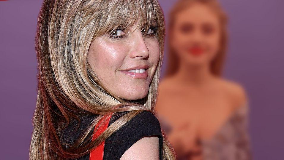 Rote Lippen & cooler Jeans-Look – Tochter Lenis Anblick ist wie eine Zeitreise