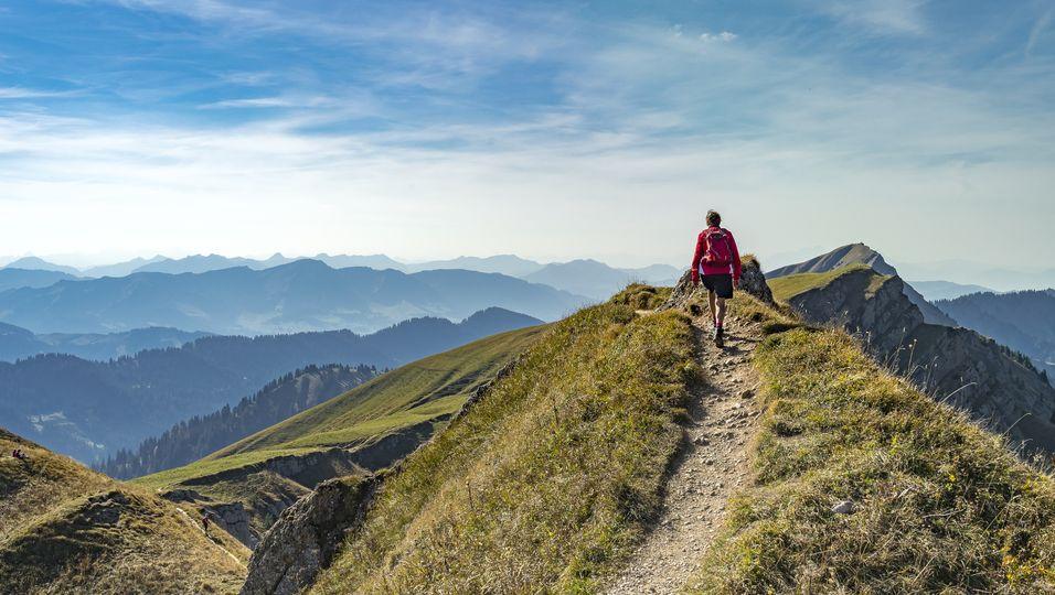 Wanderweg in den Allgäuer Alpen