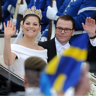 Crown Princess Victoria (L) and Prince Daniel Westling