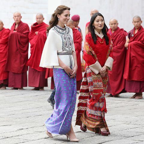 Kate und William in Bhutan