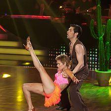 Sylvie van der Vaart and dance partner Christian Polanc
