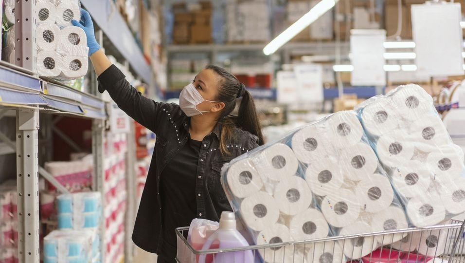 Corona-Ansteckung: So schützen Sie sich im Supermarkt