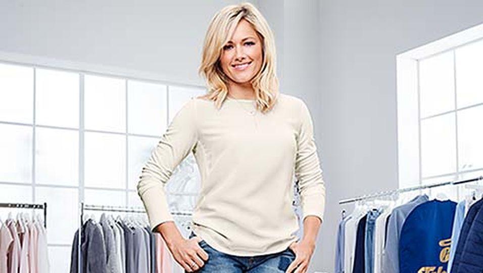Helene Fischer in einem weißen Pullover.