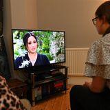 Herzogin Meghan im TV.