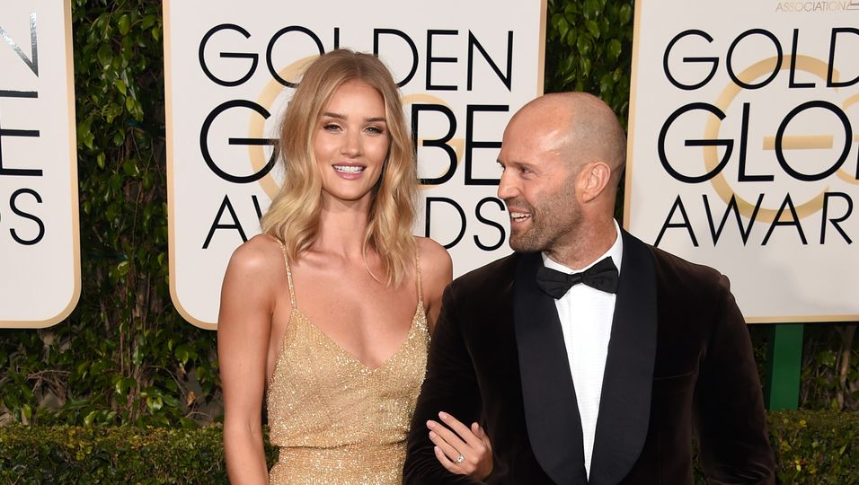 Golden Globes 2016, Rosie Huntington, Jason Statham