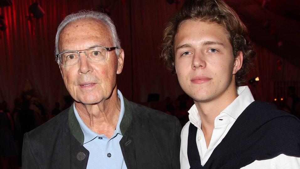 Franz Beckenbauer und sein Sohn Joel