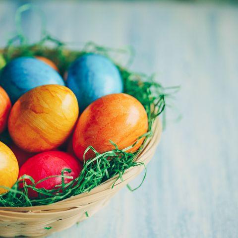 Ostereier, gefärbte Eier, Freilandeier, Ostereier färben