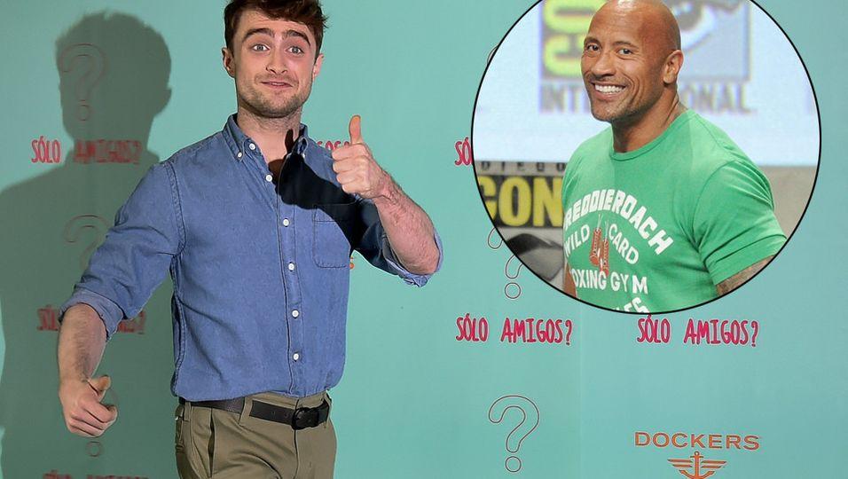Daniel Radcliffe   Riesenfan von The Rock