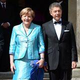 Angela Merkel und Joachim Sauer bei den Wagner-Festspielen in Bayreuth